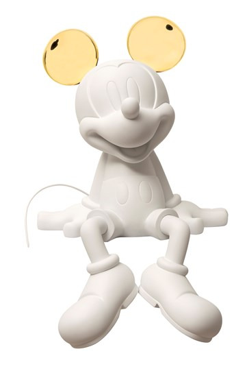 Mickey Take2 by Kelly Hoppen Matte White & Chromed Gold by Leblon Delienne - Limited Edition Sculpture